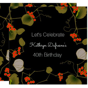 think_out_loud Elegant Asian Floral Birthday Invitation
