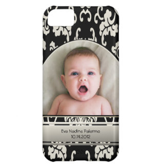Elegant Asian Floral Damask Personalized Photo Cover For iPhone 5C