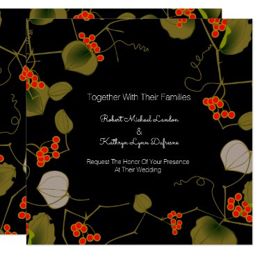 think_out_loud Elegant Asian Floral Wedding Invitation