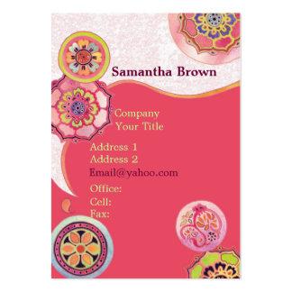 Elegant Asian Lotus Patterns Pink Business Cards