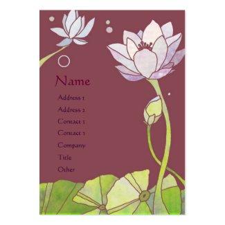 Elegant Asian Lotus Yoga or Spa Business Cards