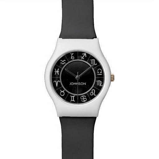 Elegant Astrology Signs - 12 Zodiac Symbols Wrist Watches