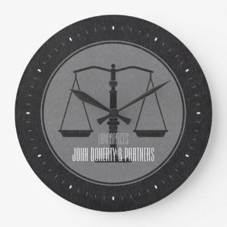Elegant Attorney at Law Gray Wall Clock