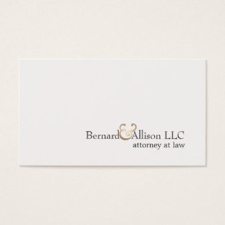 Elegant Attorney at Law Simple Off White Card