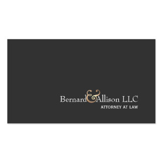 Elegant Attorney Faux Gold Leaf & Black Card Double-Sided Standard Business Cards (Pack Of 100)