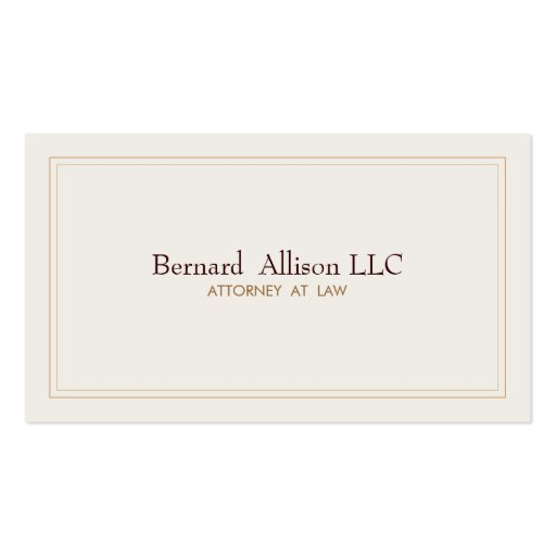Elegant Attorney Ivory Professional Traditional Business Card Templates