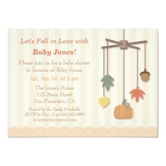 Elegant Autumn Fall Baby Shower Invitations