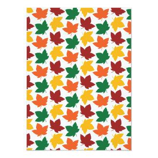 Elegant Autumn Leaves New England Fall Foliage Card