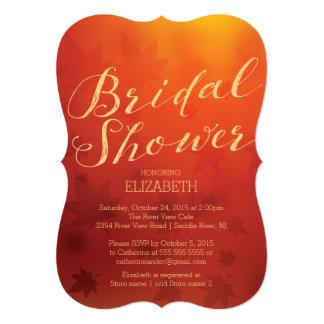 Elegant Autumn Ombre Bridal Shower Invitation