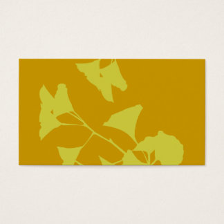 Elegant Autumn Pretty Golden Leaves Nature Business Card