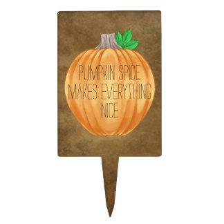 Elegant Autumn pumpkin spice Cake Topper