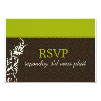 Elegant Autumn RSVP Card Custom Invitations