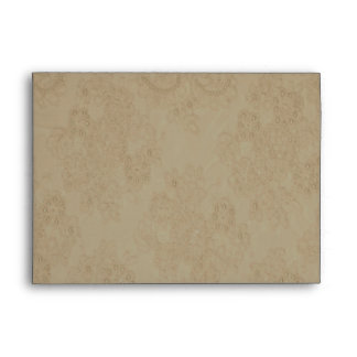 Elegant Autumn-tones Beaded Lace Card Envelope