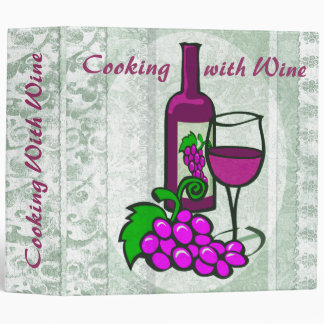 Elegant Avery Wine Recipe Binder