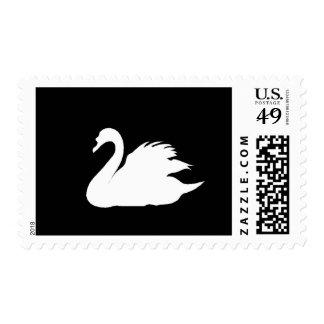 Elegant b&w swan Stamp