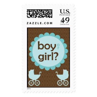 Elegant Baby Carriage Gender Reveal Party Postage Stamp