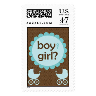 Elegant Baby Carriage Gender Reveal Party Stamp