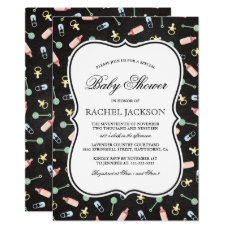 Elegant Baby Shower | Gender Reveal Boy or Girl Card