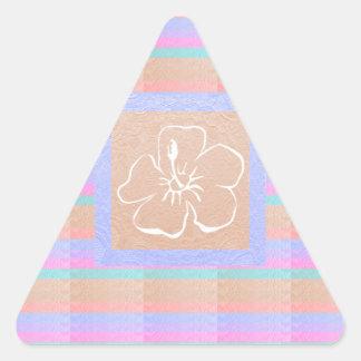 Elegant Babysoft Metallic look Color n Flower Triangle Sticker
