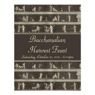 Elegant Bacchanalian Harvest Feast Neo-Classical Personalized Invite