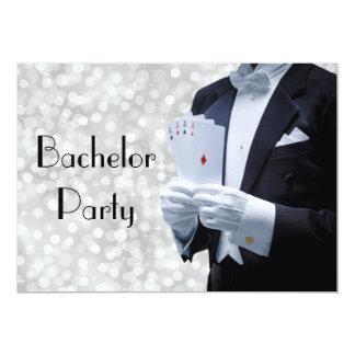 Elegant Bachelor Party Invitation with Tuxedo