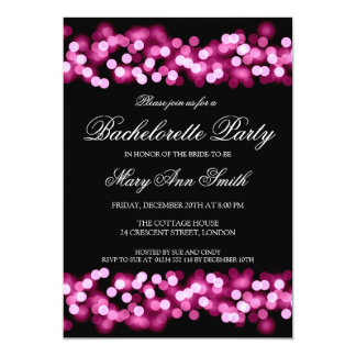 Elegant Bachelorette Party Hollywood Glam Pink Card