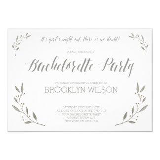 Elegant Bachelorette Party Invites Grey Floral