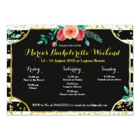 Elegant Bachelorette Party Itinerary Invitation