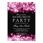 Elegant Bachelorette Party Sparkling Lights Pink 5x7 Paper Invitation Card