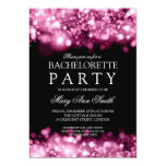Elegant Bachelorette Party Sparkling Lights Pink Personalized Invitations