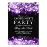 Elegant Bachelorette Party Sparkling Lights Purple 5x7 Paper Invitation Card