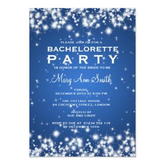 Elegant Bachelorette Party Winter Sparkle Blue Card