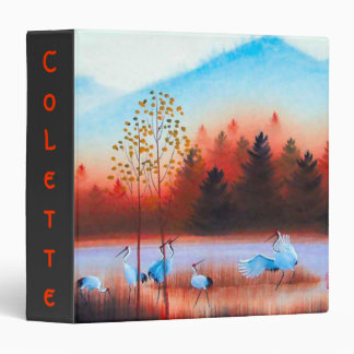 Elegant Back-to-School binder with  Nature Motif