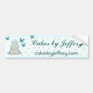 Elegant Bakery Bumpersticker Bumper Sticker