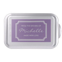 Elegant baking cake pan with personalized name