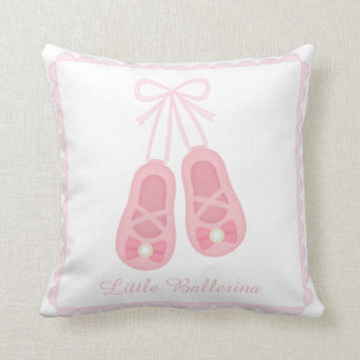 Elegant Ballerina Ballet Shoes Girls Room Decor Throw Pillow