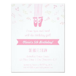 Elegant Ballerina Girl Birthday Party Invitations