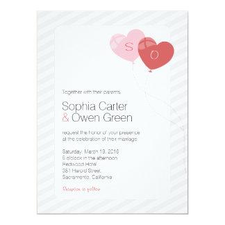 "Elegant Balloons 6.5"" x 8.75"" Wedding Invitation"