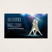 Elegant Ballroom Dance Studio Business Card at Zazzle