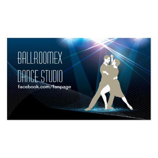 Elegant ballroom dance studio business card zazzle for Dance business cards