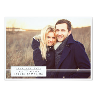 Elegant Banner Photo Save the Date Invitations