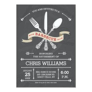 Elegant Barbecue Invitation - Chalkboard
