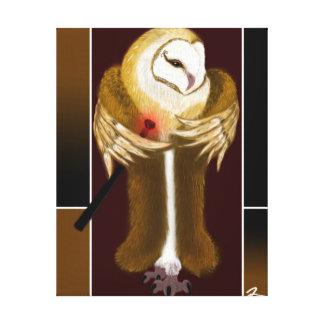 Elegant Barn Owl Canvas Print