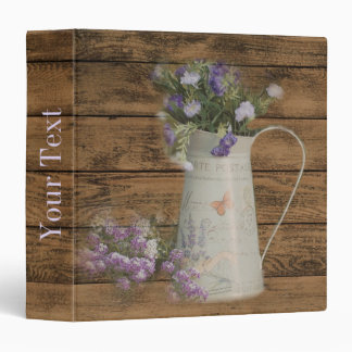 elegant barn wood  country vase wildflowers floral binder