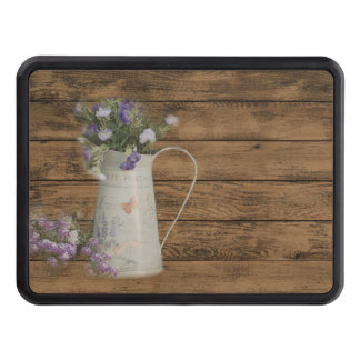 elegant barn wood  country vase wildflowers floral hitch cover