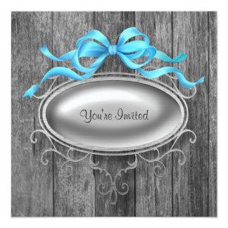 Elegant Barn Wood Party Invitation Template