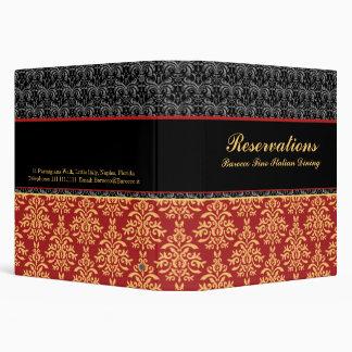 Elegant Baroque Damask Restaurant Reservation Book Binders