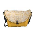 Elegant Baroque Gold Lace Rickshaw Messenger Bag