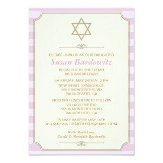 Elegant Bat Mitzvah Invitation
