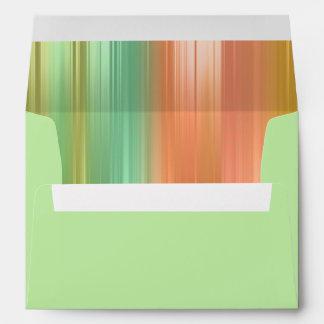 Elegant Bat Mitzvah Peach and Green Stripe Envelope